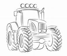 sketch of tractor stock vector illustration of diesel