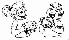 kinder am essen ausmalbild malvorlage menschen