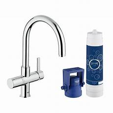grohe blue 2 handle standard kitchen faucet in