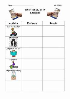 time worksheets y1 3261 what can you do in 1 minute differentiated y1 2 by l e1984 teaching resources tes
