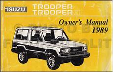 manual repair free 1995 isuzu trooper on board diagnostic system 1989 isuzu trooper and trooper ii owner s manual original