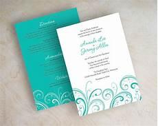 Teal Wedding Invites teal wedding invitation contemporary wedding invitation