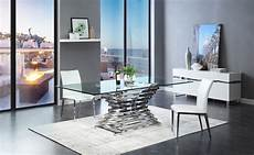modrest modern rectangular glass dining table