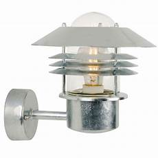 nordlux vejers up outdoor wall light galvanised steel outdoor wall lights outdoor lighting