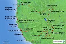 stepmap usa reiseroute west 1 landkarte f 252 r nordamerika
