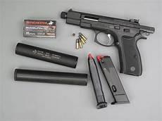 Essai Armes Pistolet Cz 75 171 Kadet 187 Silencieux