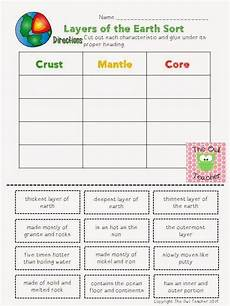 layers of the earth worksheets 14425 cyber sale and a freebie earth science student and the o jays