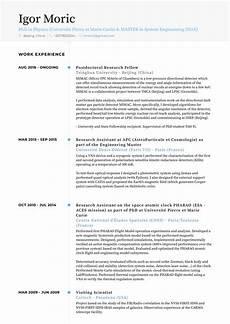 research intern resume sles templates visualcv