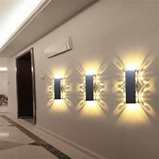 applique murale design 2w 6w led wall l sconce lights batteryfly aluminum fixture up and modern ac85