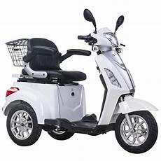 3 wheeled electric mobility scooter 48v 500w white