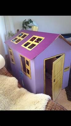Karton Haus Karton Kinder Haus Aus Pappe Und Karton Basteln