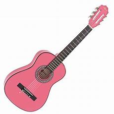 pink guitar junior 1 2 classical guitar pink by gear4music at gear4music