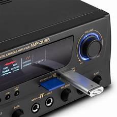 hifi verstärker test 2 hifi karaoke lifier 100w max usb sd mp3