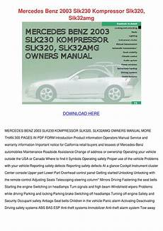 small engine service manuals 2003 mercedes benz slk class auto manual mercedes benz 2003 slk230 kompressor slk320 s by kari mabey issuu