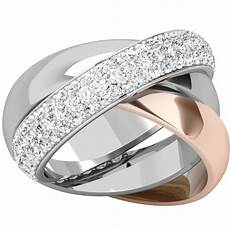 3 band russian wedding ring in 18ct rose gold pd765r purely diamonds