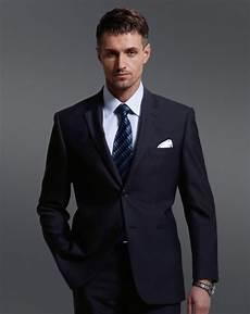 costume pour homme 70 deux boutons notch revers la marine slim costume