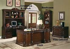 rich walnut executive desk online home office furniture traditional style ebay