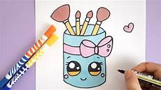 Bilder Zum Nachmalen Leicht How To Draw A Makeup Brush Holder