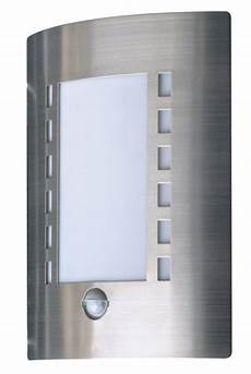 massive oslo outdoor wall light stainless steel requires 1 60 watts e27 bulb with pir motion