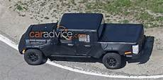 2019 jeep ute 2019 jeep wrangler ute spied with production tray photos