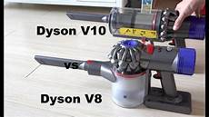 dyson v10 vs dyson v8 vacuum suction power compared