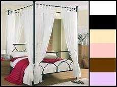 Tab Top Voile 4 Four Poster Bed Curtain Set 8 Panels 58