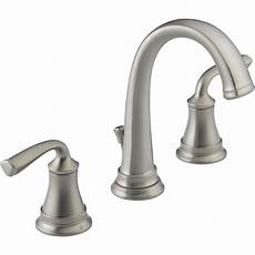 Lowes Kitchen Plumbing Fixtures by Delta Lorain Stainless 2 Handle Widespread Watersense