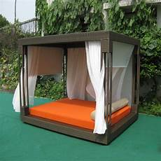 Most Popular Outdoor Furniture Rattan Daybed With Canopy