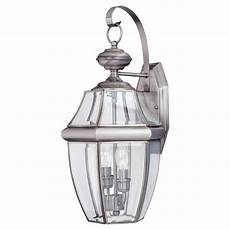 sea gull lighting outdoor bullets 2 light painted brushed nickel outdoor wall fixture 8313802