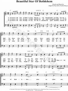 bill gloria gaither quot beautiful star of bethlehem quot sheet music in c major transposable