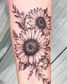 155 cutest sunflower tattoo designs this year rawiya