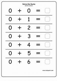 add the numbers with zero teachers printables home schooling activity sheets