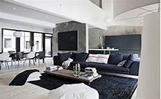 moderne wohnzimmer schwarz weiss black and white contemporary interior design ideas for