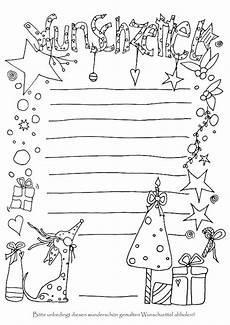 wunschzettel zum anmalen weihnachten weihnachten