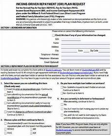 free 8 sle income based repayment forms in pdf ms word