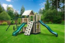 swing sets congo safari deluxe lookout and climber swing set