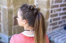 pull thru ponytail cute girls hairstyles