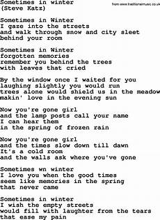 sometimes in winter by the byrds lyrics with pdf