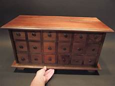 Kitchen Lowboy Buffet by Primitive Antique Style Wood Apothecary Spice Chest