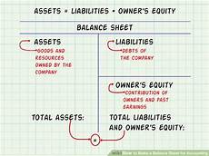 how to make a balance sheet for accounting 13 steps