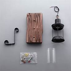 retro industrial cottage style metal clear glass lantern 1 light wall light backplate