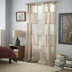 essex striped linen window panel 48 quot x84 quot west elm