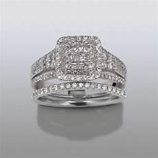 david tutera 1 cttw certified diamond bridal set 14kt white gold shop your way online