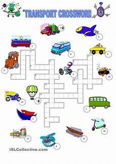 transport comprehension worksheets 15178 transport crossword 201 ducation