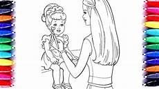 barbie painting chelsea coloring book pages for kids learn color using winsor and newton