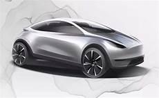 Tesla Konzeptzeichnung Zeigt Kompaktes E Auto Kleiner Als