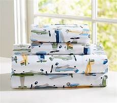 airplane sheet set twin pottery barn kids