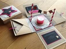 Kiste Selber Basteln - birthday cake explosion box geschenke geschenke basteln