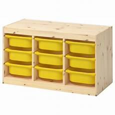 trofast storage combination with boxes light white stained pine yellow ikea