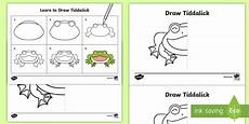 how to draw tiddalick the frog worksheet activity sheet australian